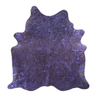 Amara Metallic Acid Cowhide Rug Purple