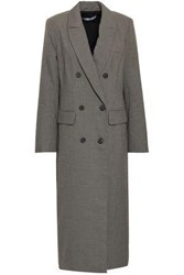 Rebecca Minkoff Turner Double Breasted Houndstooth Woven Coat Gray