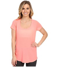 Lucy S S Workout Tee Blush Pink Women's Workout