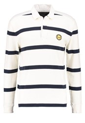 Abercrombie And Fitch Rugby Polo Shirt White Blue