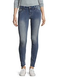 True Religion Faded Super Skinny Jeans Cool Blue