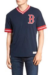 Mitchell And Ness Men's Boston Red Sox Vintage V Neck T Shirt