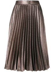 Roberto Collina Pleated Skirt Cotton Polyester Metallized Polyester Other Fibers Pink Purple