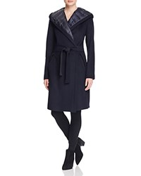 Dawn Levy Paige Down Lined Wrap Coat 100 Bloomingdale's Exclusive Navy