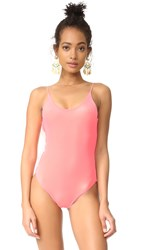 Lolli Barbie Scoop Neck One Piece Papaya