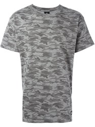 Les Artists Art Ists Camouflage Browne T Shirt Grey