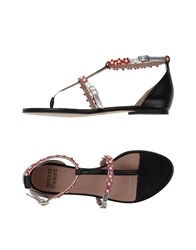 Gianna Meliani Toe Strap Sandals Silver