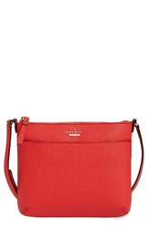 Kate Spade New York Cameron Street Tenley Leather Crossbody Bag Red Prickly Pear