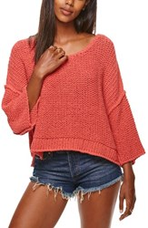 Free People Women's Halo Pullover Coral