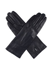 Dents Ladies Leather Glove With Silk Lining Blue