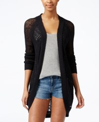 Roxy Juniors' Ocean Of Love Open Knit Cardigan Sweater Black