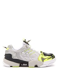 Vetements X Reebok Spike Runner 400 Mesh Trainers Yellow White