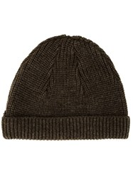 Cityshop Ribbed Beanie Brown