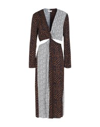 Edun 3 4 Length Dresses Brown