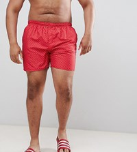 French Connection Plus Dot Swim Shorts Red