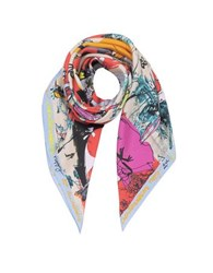 Christian Lacroix 20 Ans Pure Silk Womnen's Square Scarf Red