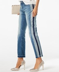 Inc International Concepts I.N.C. Two Tone Ankle Jeans Created For Macy's Indigo