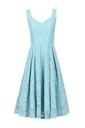 Jolie Moi Pleated Lace Prom Dress Blue