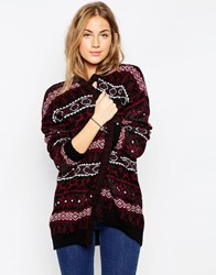 Asos Cardigan In Christmas Fairisle Multi