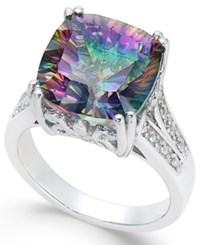 Macy's Mystic Topaz 5 Ct. T.W. And White Topaz Accent Ring In Sterling Silver Multi