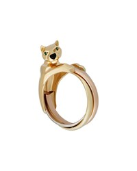Cartier Panthere Trinity 18K Triple Band Ring Size 7