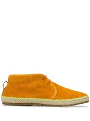 Brimarts Flat Lace Up Shoes Orange