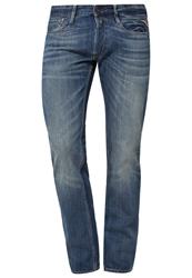 Replay Newbill Straight Leg Jeans Blau Blue Denim