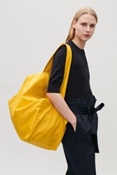 Cos Collapsed Tote Bag Yellow