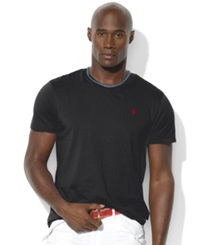 Polo Ralph Lauren Big And Tall Classic Fit V Neck Short Sleeve Cotton Jersey T Shirt Rl Black