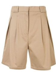 Ports 1961 High Rise Tailored Shorts Neutrals