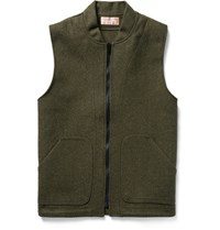Filson Filon Mackinaw Wool Gilet Foret Green Forest Green