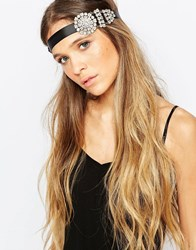 Johnny Loves Rosie Nora Jewel Headband Black