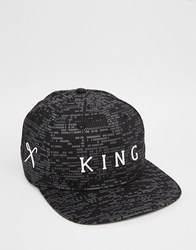 King Apparel Matrix Snapback Cap Black
