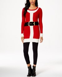 It's Our Time Juniors' Santa Sweater Dress
