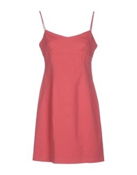 Krizia Jeans Short Dresses Brick Red