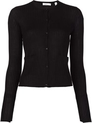 A.L.C. Ribbed Button Down Cardigan Black