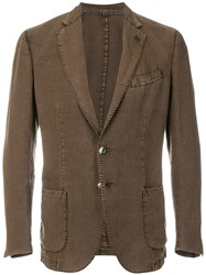 Dell'oglio Two Button Blazer Brown