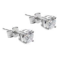 Nina B Breddral 9Ct White Gold Cubic Zirconia Stud Earrings