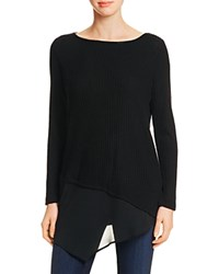 Red Haute Waffle Knit Asymmetric Tunic Black