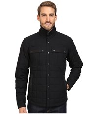 Nau Utility Down Shirt Caviar Men's Long Sleeve Button Up Black