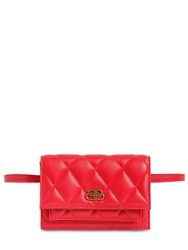 Balenciaga Xs Sharp Quilted Leather Belt Bag Bright Red