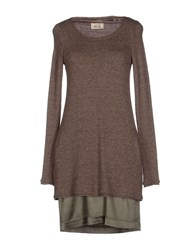 Niu' Dresses Short Dresses Women Khaki