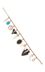 Jacquie Aiche Wild Child Fossil And Bone Charm Bracelet Rose Gold