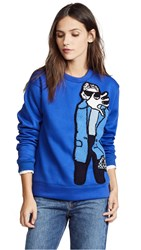 Michaela Buerger Paparazzi Girl Sweatshirt Electric Blue