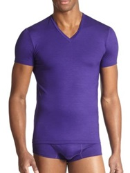 Dsquared Slim Fit Jersey V Neck Tee Purple