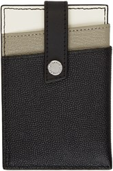 Want Les Essentiels Grey And Black Kennedy Money Clip Card Holder