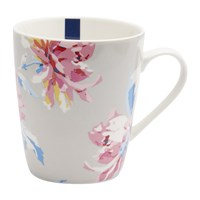 Joules Whitstable Floral Fine China Mug Grey