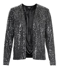 Soaked In Luxury Smart Sparkle Blazer Black