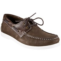 John Lewis Leather Boat Shoes Chocolate