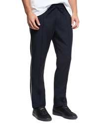Vince Wool Track Pants With Piping Navy